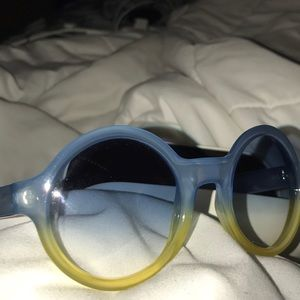 Blue and yellow sunglasses by Marc Jacobs